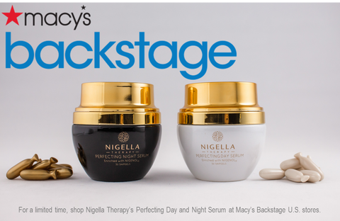 Nigella Therapy Serum products with Macy's Backstage logo