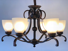 6-Light Tuscan Brown Shaded Chandelier L1030