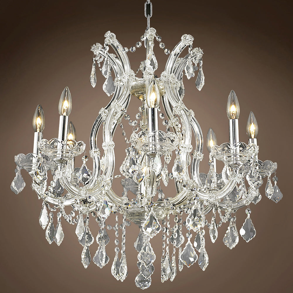 9-light Maria Ŧerassa Crystal Chandelier L1187