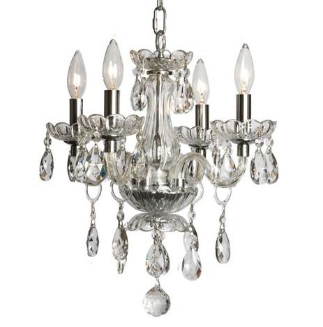 4-Light Crystal Chandelier L1252