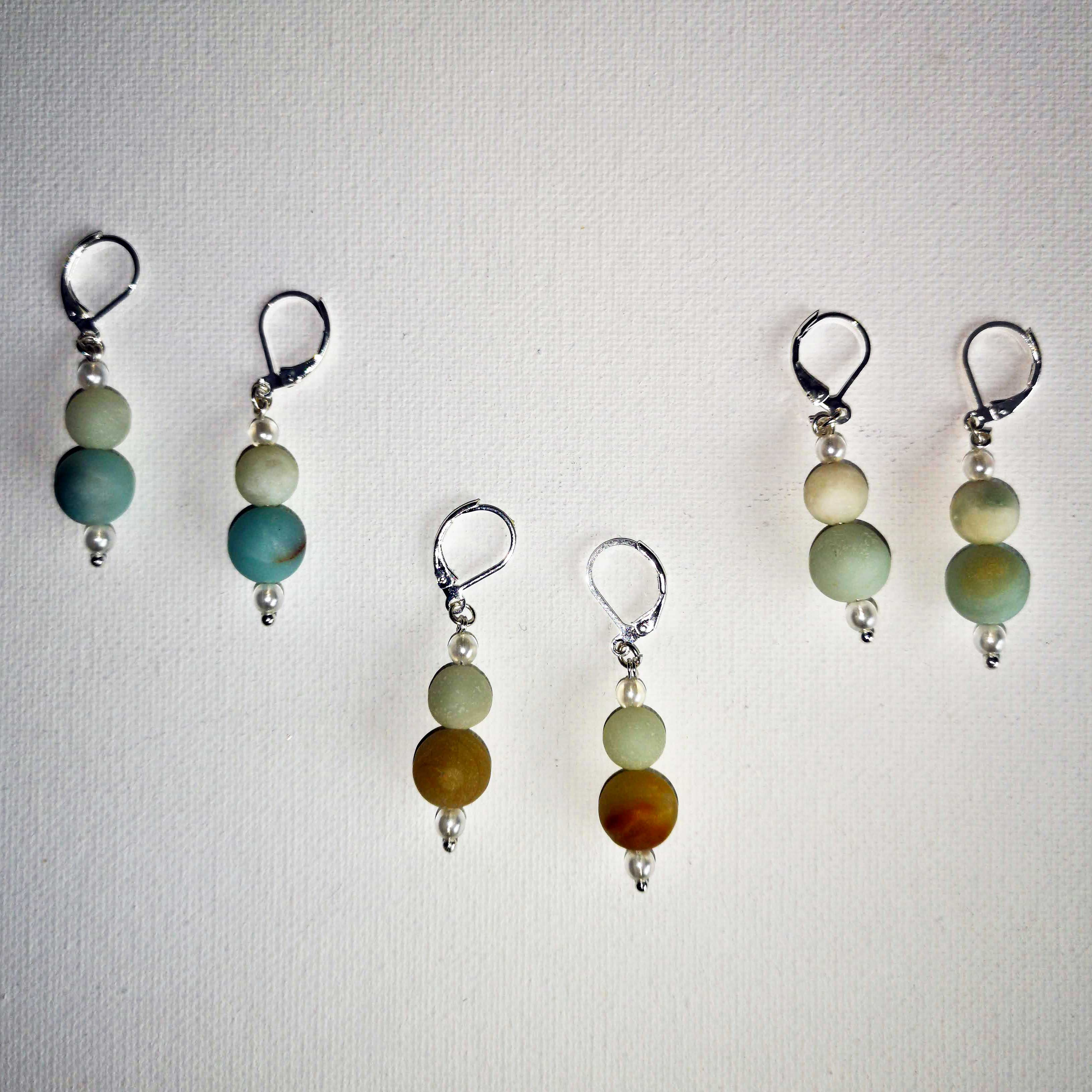 Amazonite Earrings (match Diffuser necklaces)