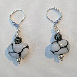 Giraffe Grey Kazuri Earrings