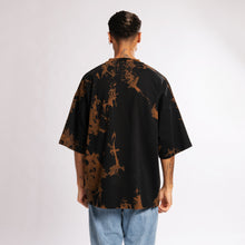 ULTRA HEAVY OVERSIZE SPACE T-SHIRT - BLACK/ORANGE