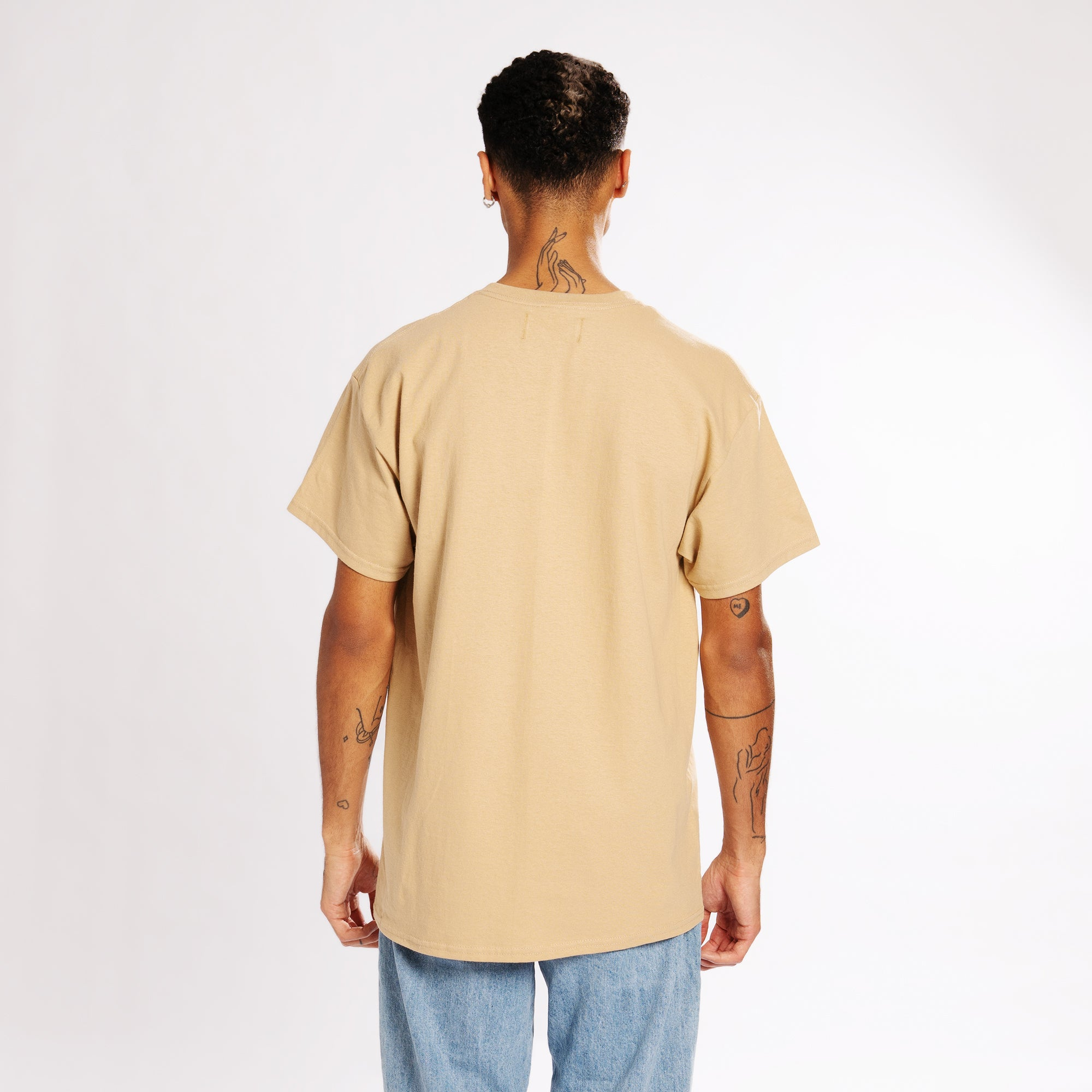 REFLECTION LOGO T-SHIRT - CAMEL