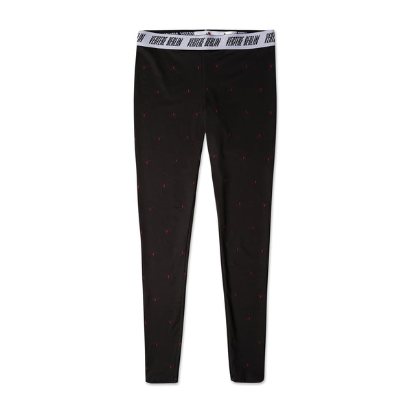 LADIES' LEGGINGS MONOGRAM - BLACK