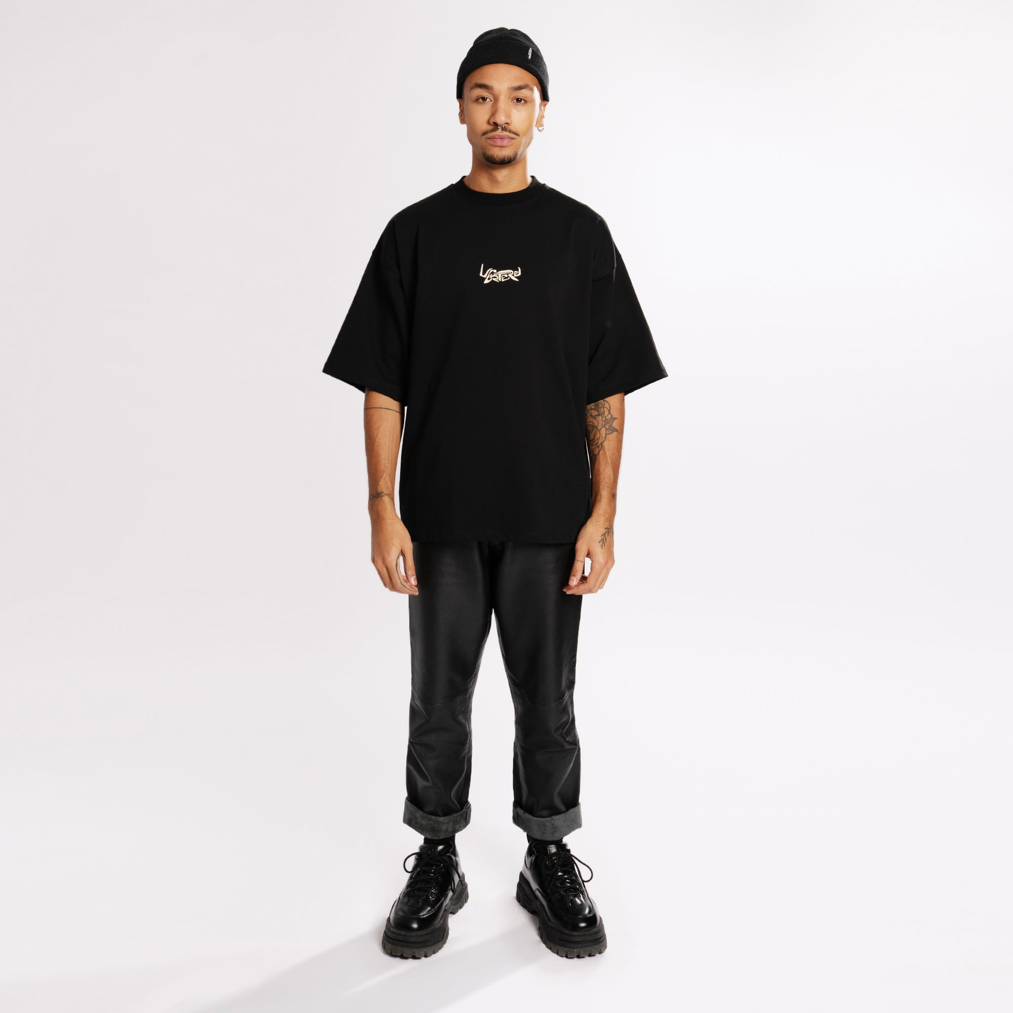 ULTRA HEAVY OVERSIZE SPACE T-SHIRT - BLACK