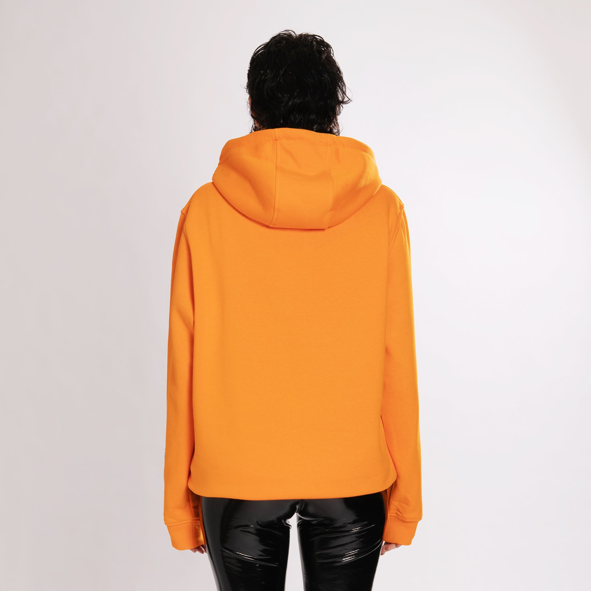 GLITCHED ACCELERATION HOODIE - ORANGE