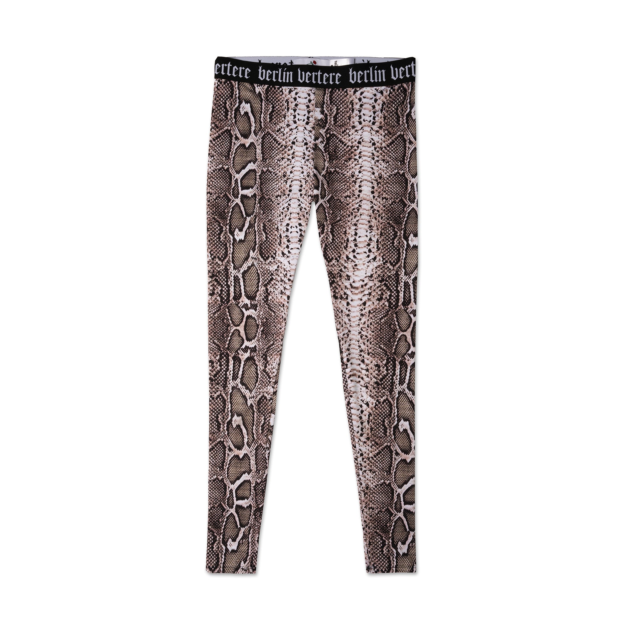 LADIES' LEGGINGS SNAKE - BLACK/BROWN