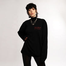 UNIVERSAL BODY TALK SWEATER - BLACK