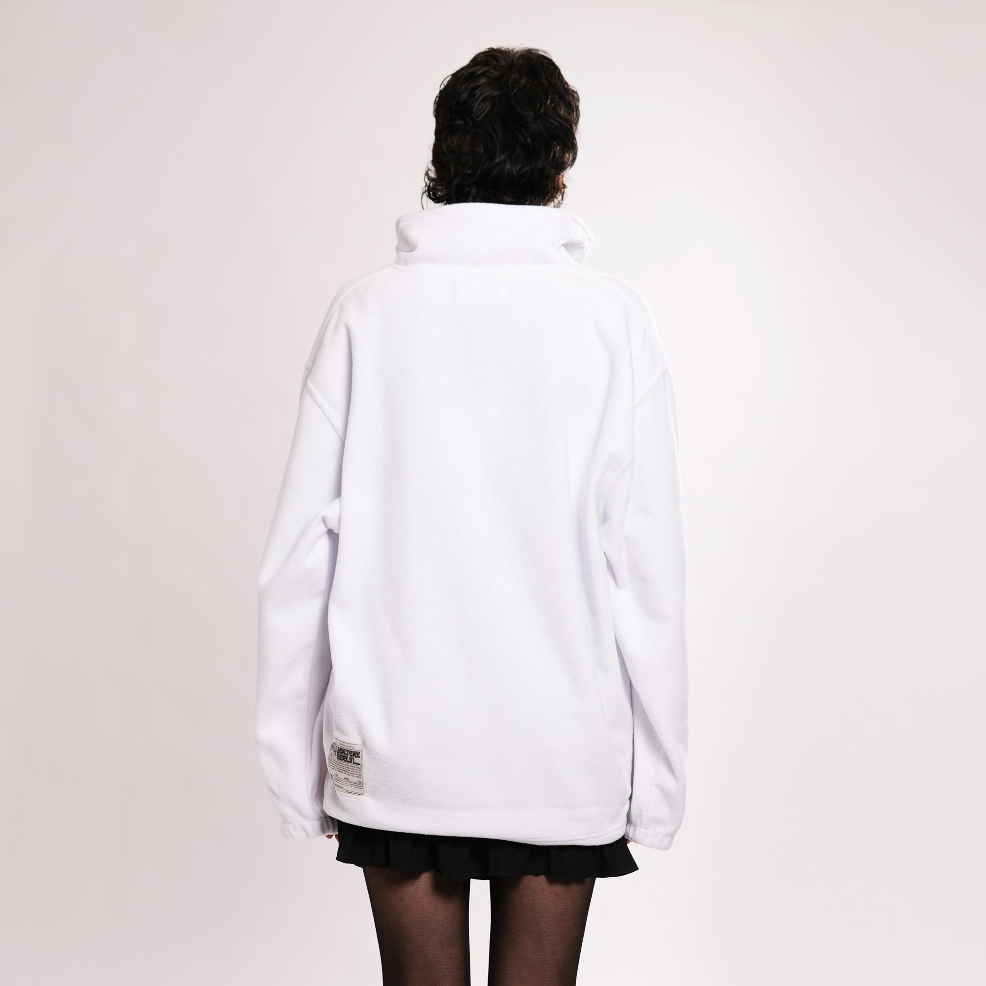 FLEECE ZIP SWEATER ACCELERATION - WHITE
