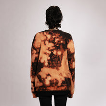 VERTERE BERLIN BLEACH TIE DYE SWEATER - BLACK/ORANGE