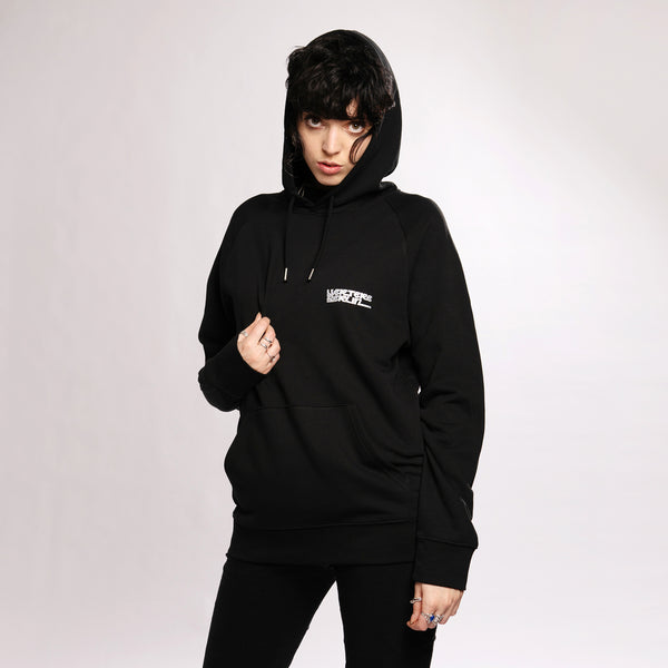 REFLECTION LOGO HOODIE - BLACK