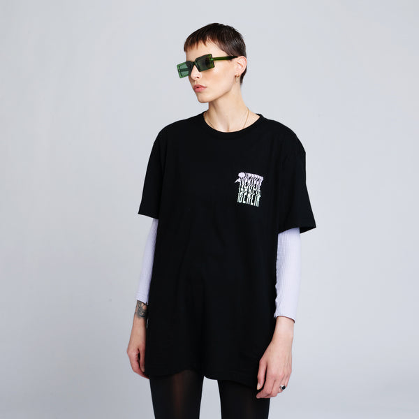 DISTORTION T-SHIRT - BLACK