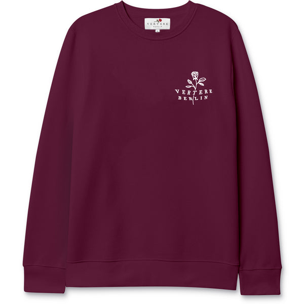 ROSE TATTOO SWEATER - BURGUNDY