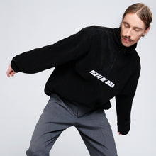 FLEECE ZIP SWEATER ACCELERATION - BLACK