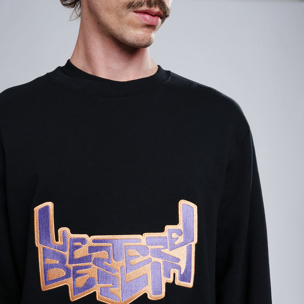SPACE LOGO SWEATER - BLACK