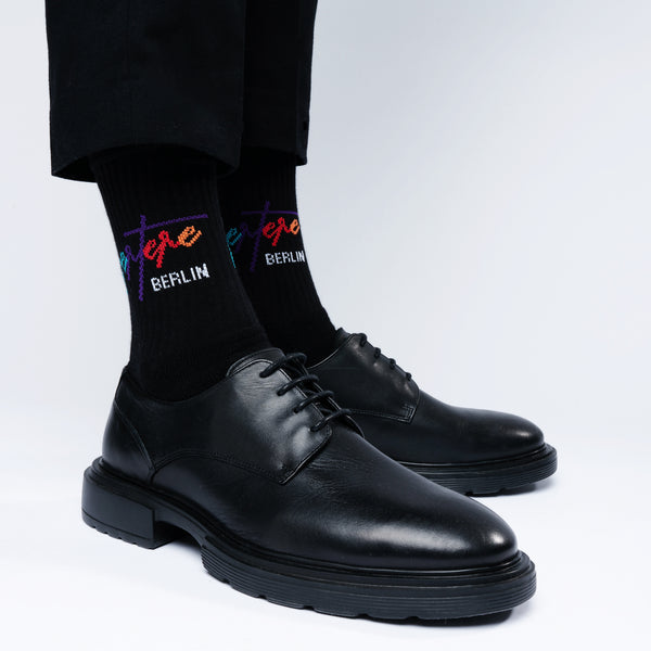 TENNIS SOCKS COLORIZE - BLACK