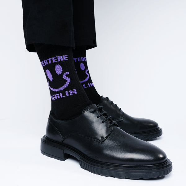 TENNIS SOCKS ACID SMILEY - BLACK