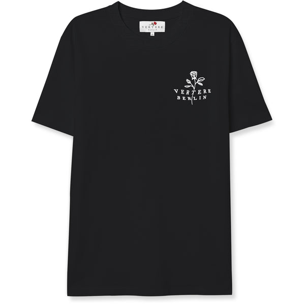 ROSE TATTOO T-SHIRT - BLACK