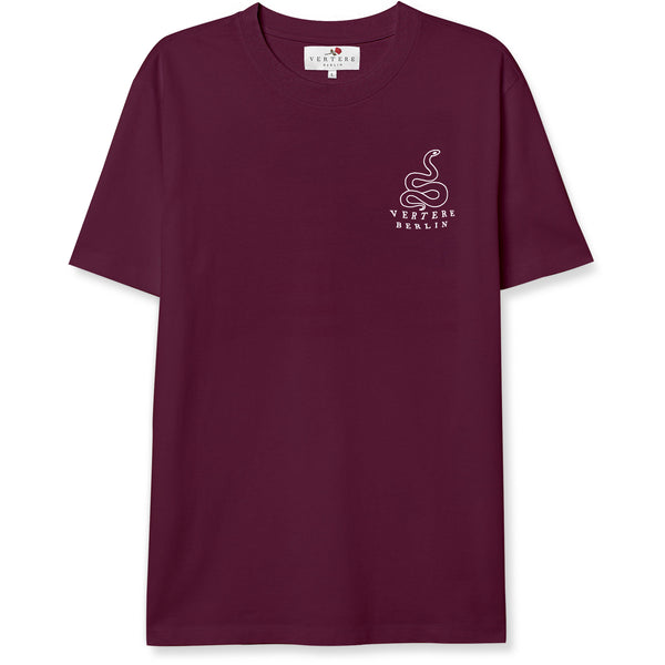 SNAKE TATTOO T-SHIRT - BURGUNDY