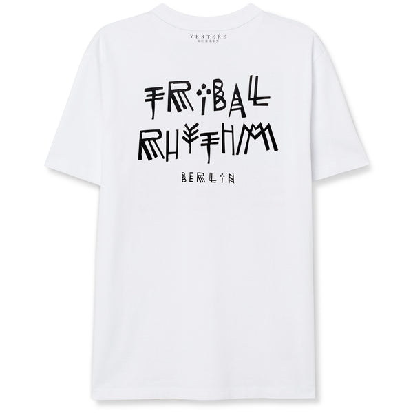 TRIBAL RHYTHM T-SHIRT - WHITE