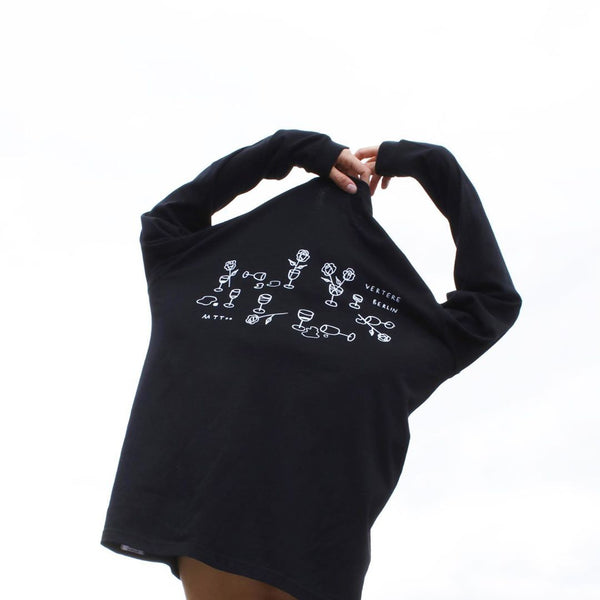 DATENIGHT LONGSLEEVE - BLACK