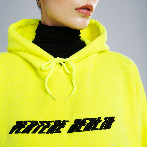 GLITCHED ACCELERATION HOODIE - NEON