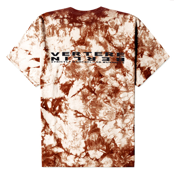 STRICTLY TIE DYE T-SHIRT - BEIGE/RED