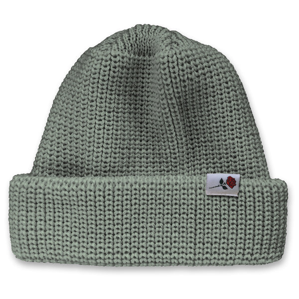 CLASSIC WOOL BEANIE ROSE - LIGHT-GREY