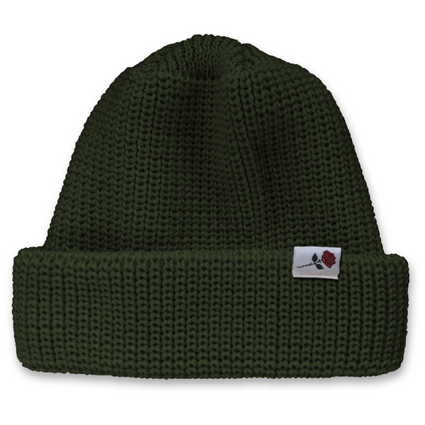CLASSIC WOOL BEANIE ROSE - DARK-GREEN