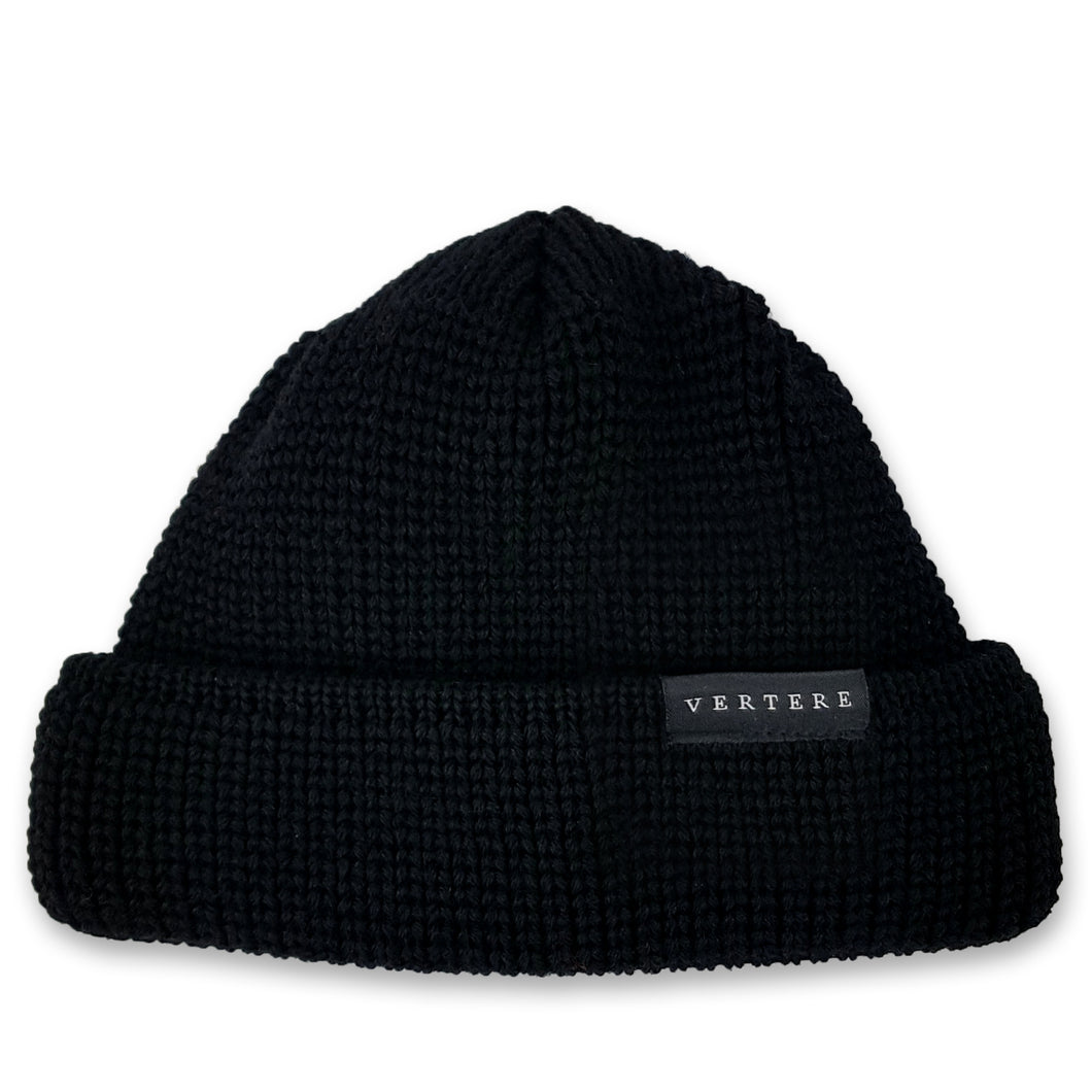 SHORT WOOL BEANIE - MONOCHROME