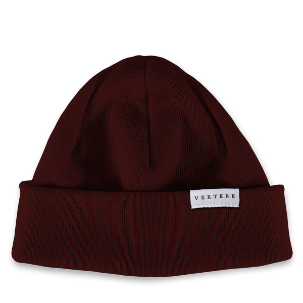 SHORT MERINO BEANIE - BORDEAUX