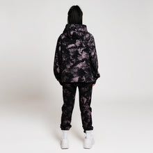 HYPER PLEASURE TIE DYE HOODIE - BLACK/PURPLE