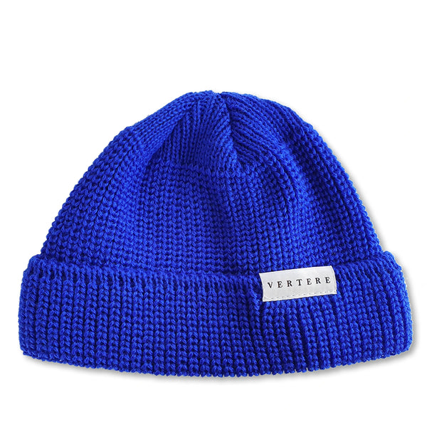 SHORT WOOL BEANIE - ROYAL