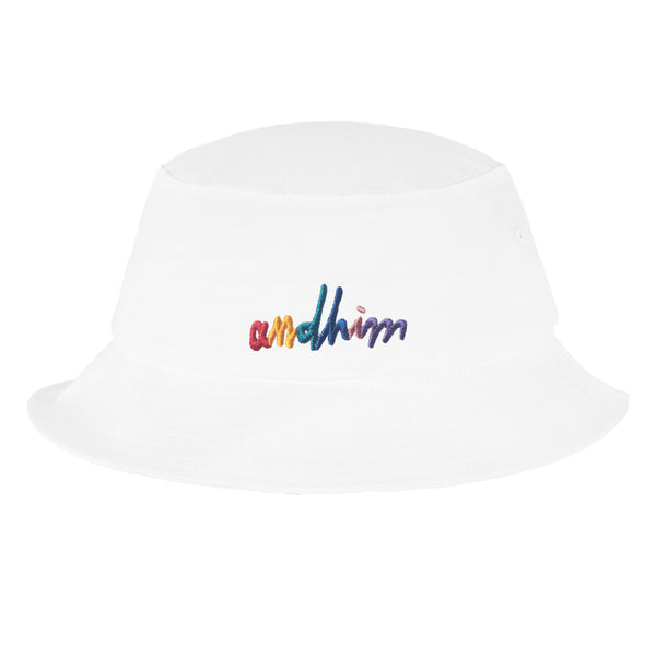 ANDHIM COLLAB BUCKET HAT SIGNATURE - WHITE