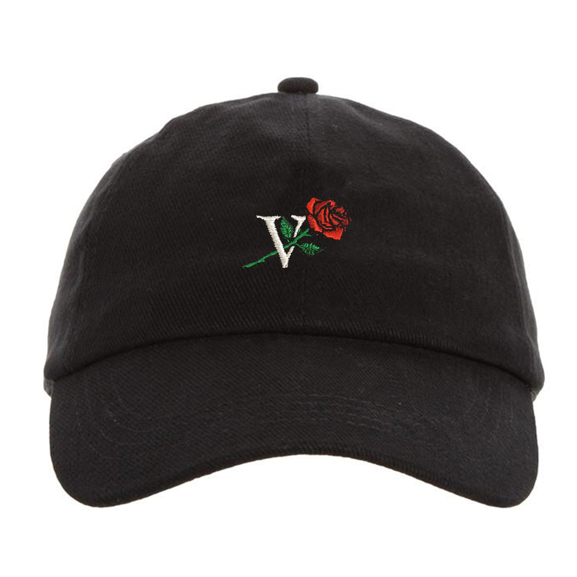 V ROSE CAP - BLACK