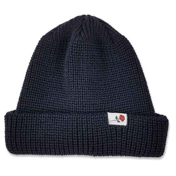 CLASSIC WOOL BEANIE ROSE - NAVY