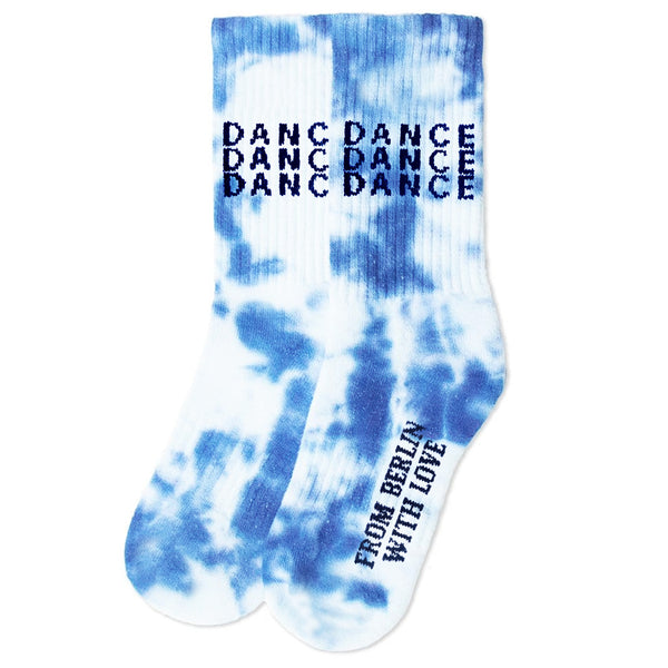 TENNIS SOCKS DANCE TIE DYE - BLUE/WHITE