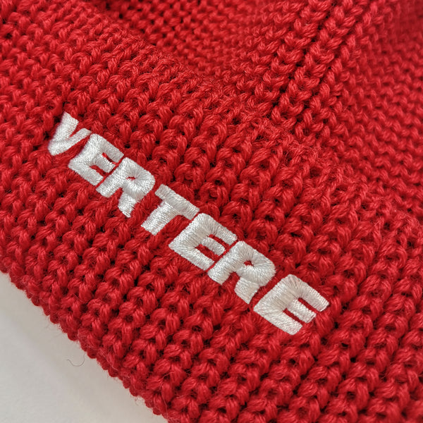 SHORT WOOL BEANIE VERTERE - RED