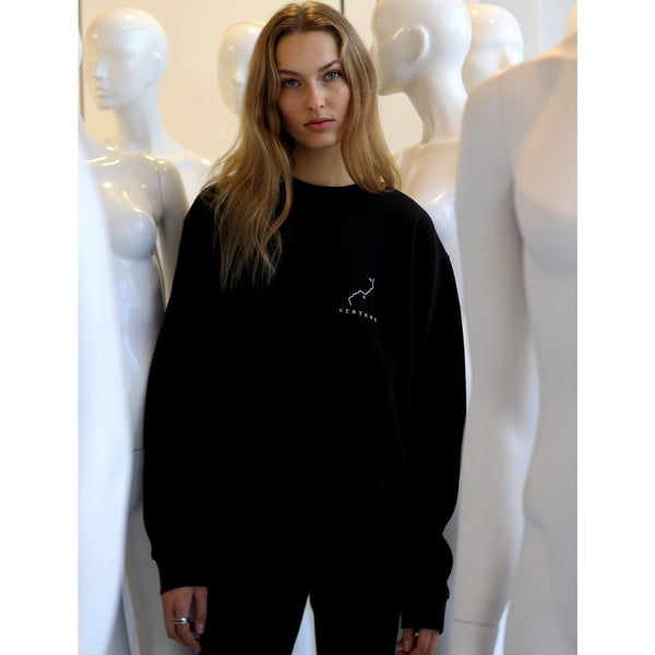 FACES SWEATER - BLACK