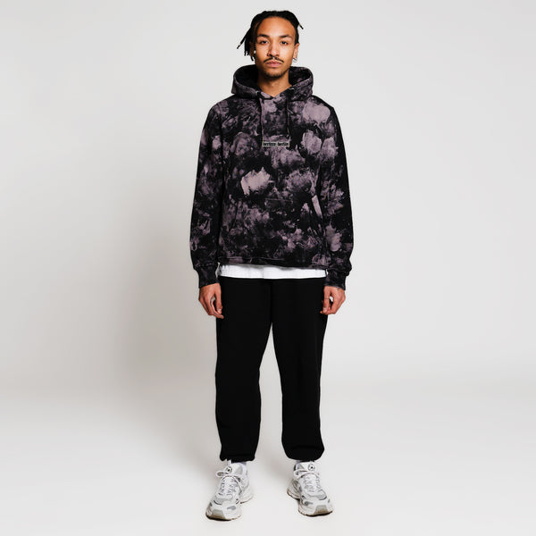 OLD BERLIN TIE DYE HOODIE - BLACK/PURPLE