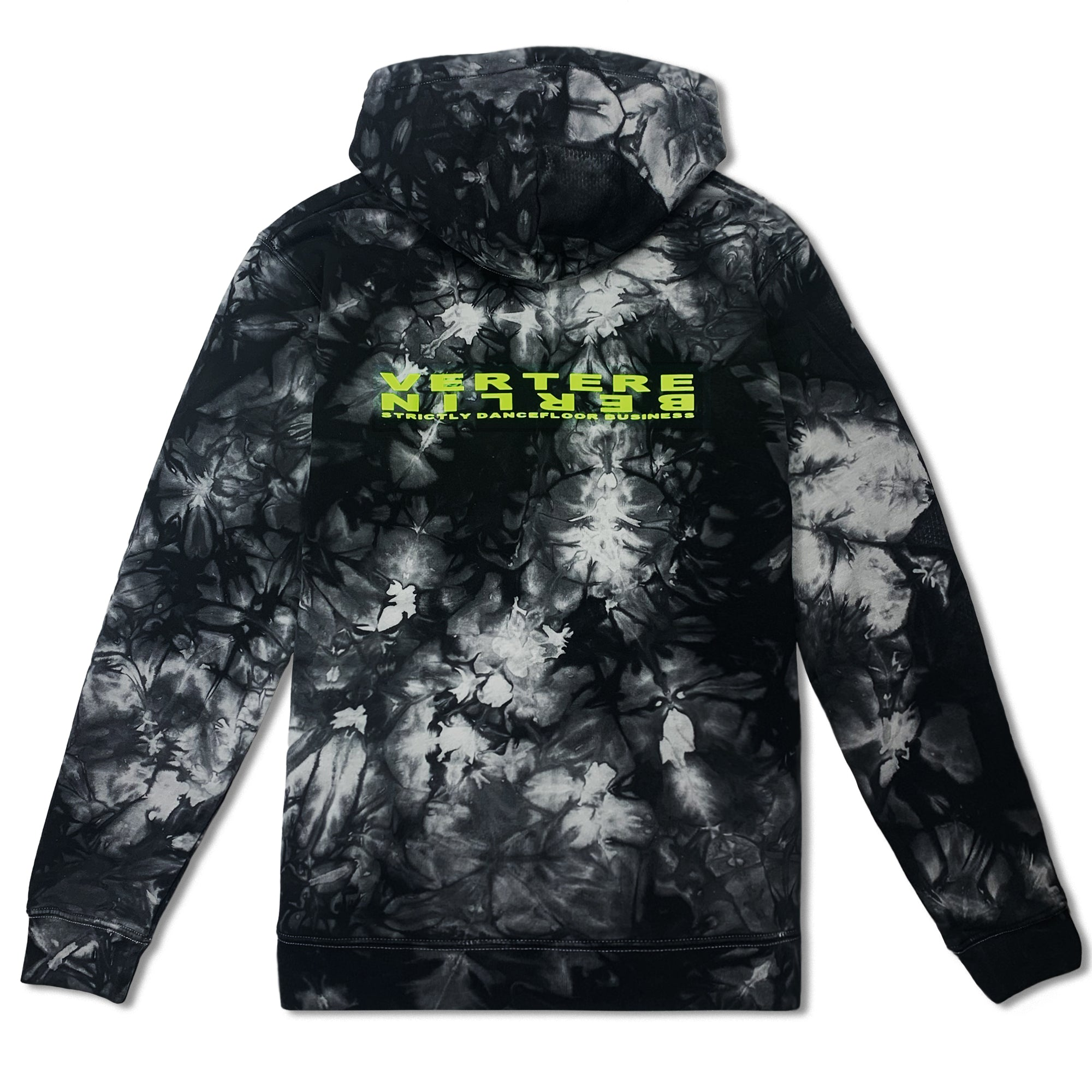 STRICTLY TIE DYE HOODIE - BLACK