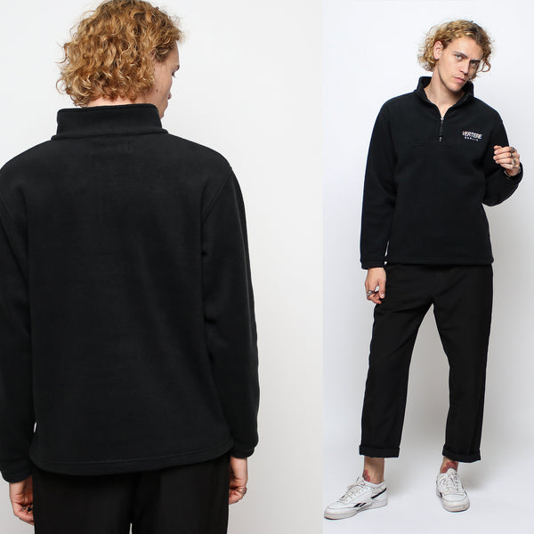 FLEECE ZIP SWEATER GLITCH - BLACK