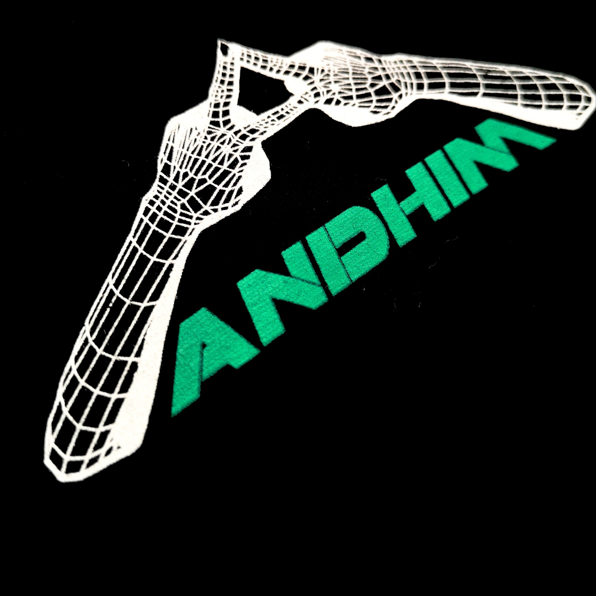 ANDHIM COLLAB T-SHIRT VINYL IS FLAT - BLACK