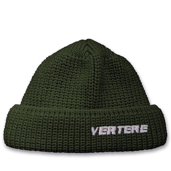 SHORT WOOL BEANIE VERTERE - DARK-GREEN