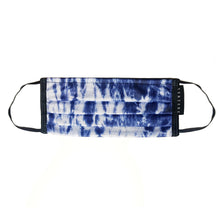 TIE DYE FACE MASK WITH NECKBAND - DARK-BLUE