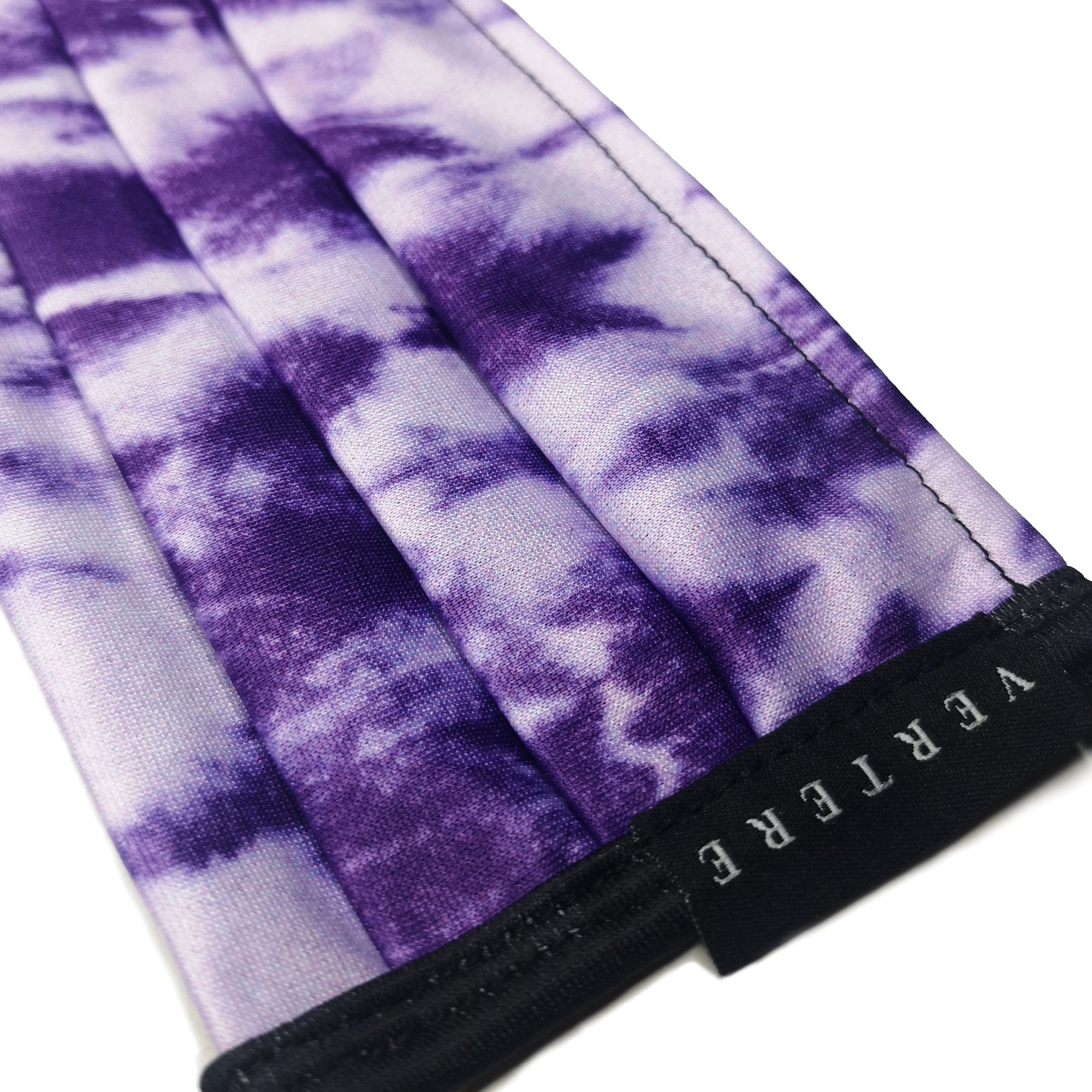 TIE DYE FACE MASK WITH NECKBAND - PURPLE