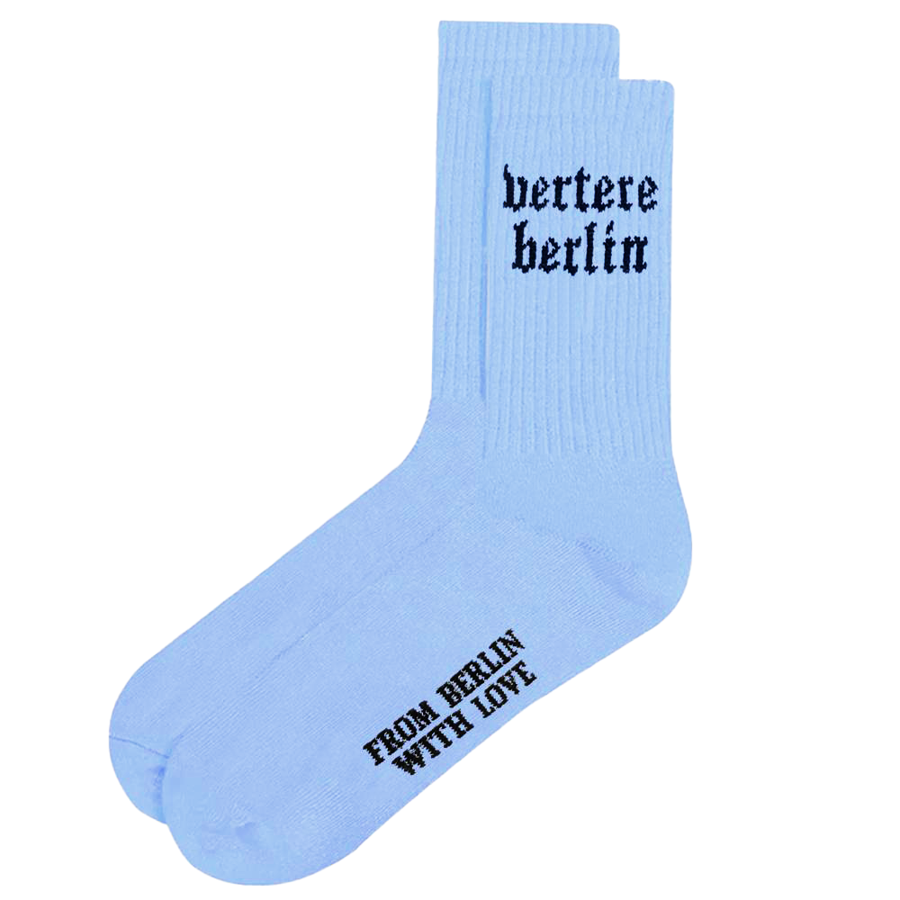 OLD BERLIN TENNIS SOCKS - LIGHT-BLUE