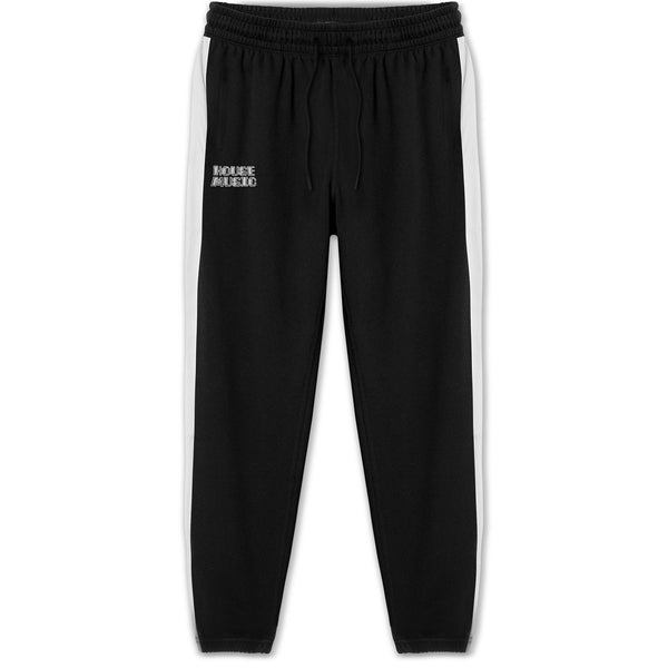 HOUSE MUSIC TRACK PANT - BLACK / WHITE