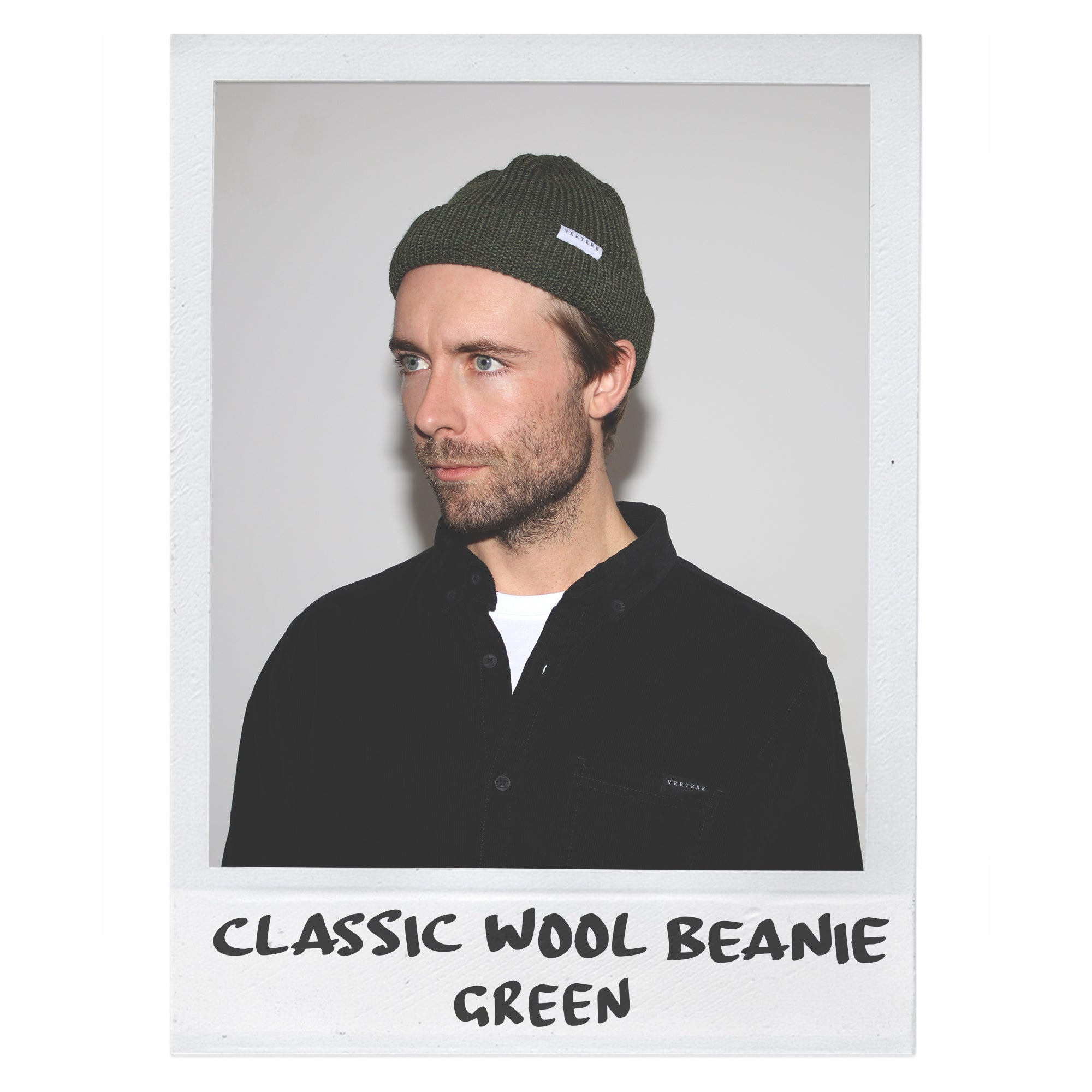 CLASSIC WOOL BEANIE - DARK-GREEN